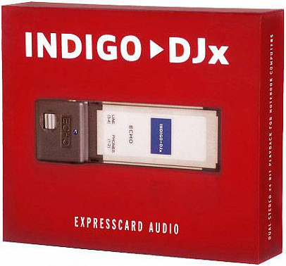 DRIVERS FOR ECHO AUDIO INDIGO DJXINDIGO IOX EXPRESSCARD